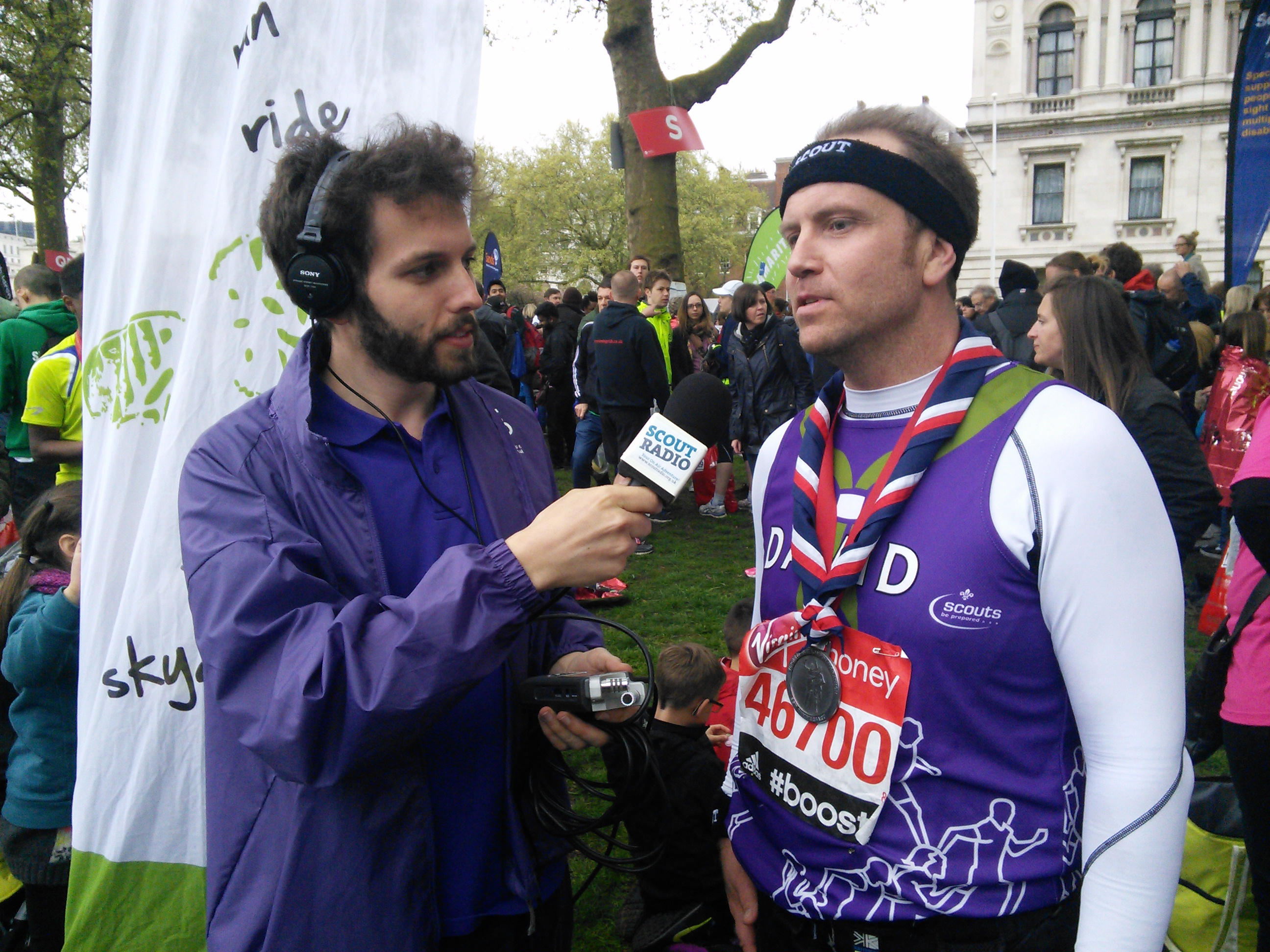 Scout Radio in Action at the London Marathon 2015