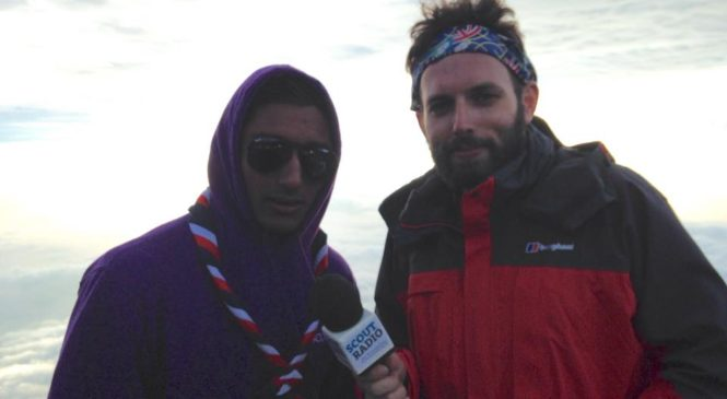 WSJ2015: Deputy Youth Commissioner Jagz interviewed at top of Mount Fuji