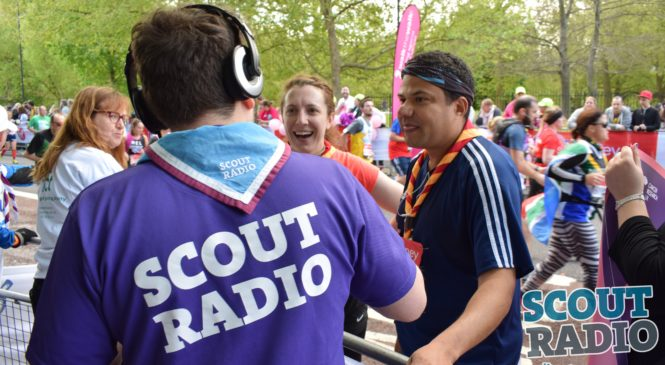 Scout Radio at the London Marathon 2017