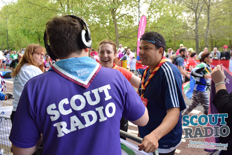 Scout Radio at the London Marathon 2017