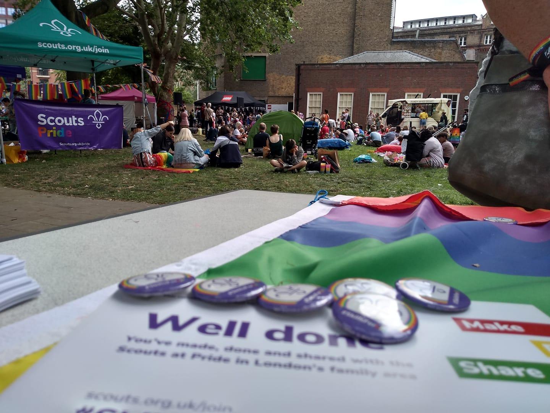 London Pride Scouts Family Area 2019